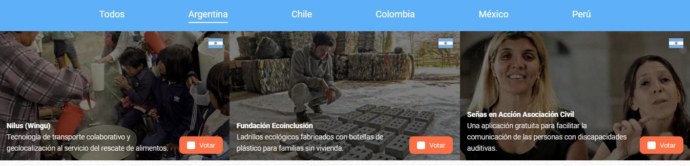 Tres proyectos argentinos son finalistas del Google Challenge