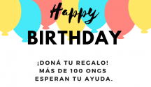Dona tu cumpleaños